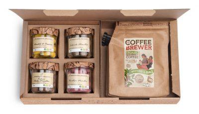 Gift Box koffie en amandel met chocolade