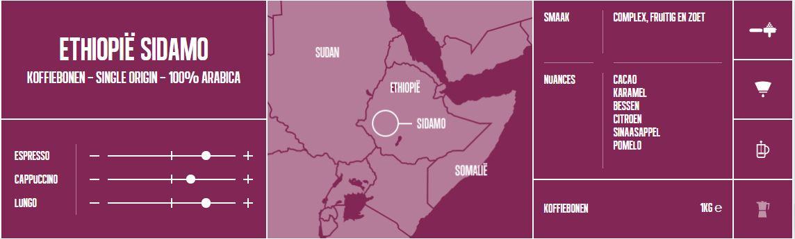 Mocca-d'Or-Koffiebonen-Ethiopië Sidamo