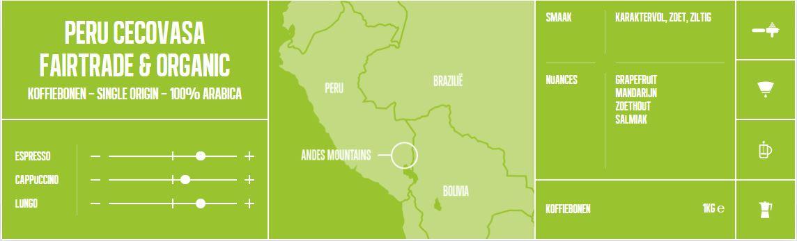 Mocca-d'Or-Koffiebonen-Peru Cecovasa Fairtrade & Organic
